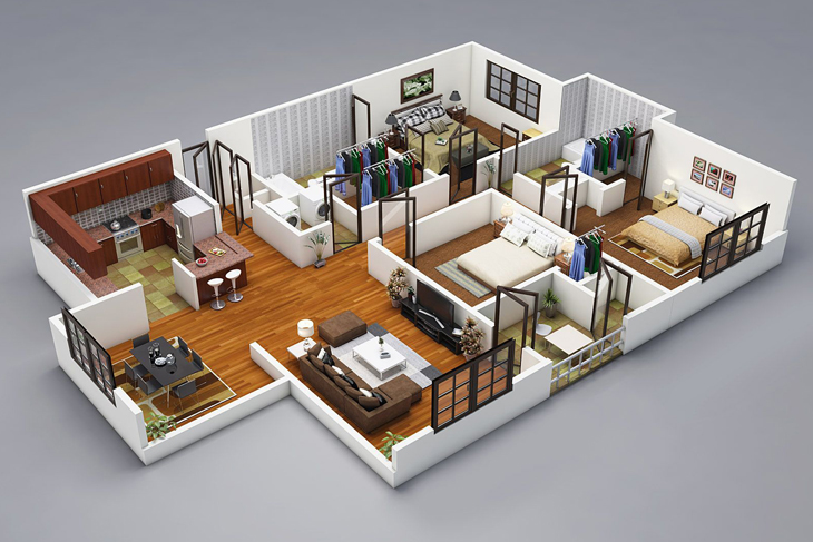 3d Floor Plans 3d House Plan Customized 3d Home Design 3d House Design 3d House Map,4 Bedroom Home For Rent By Owner